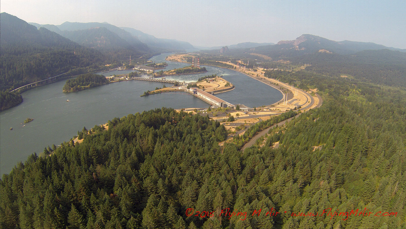 The Bonneville Dam on the Columbia River
